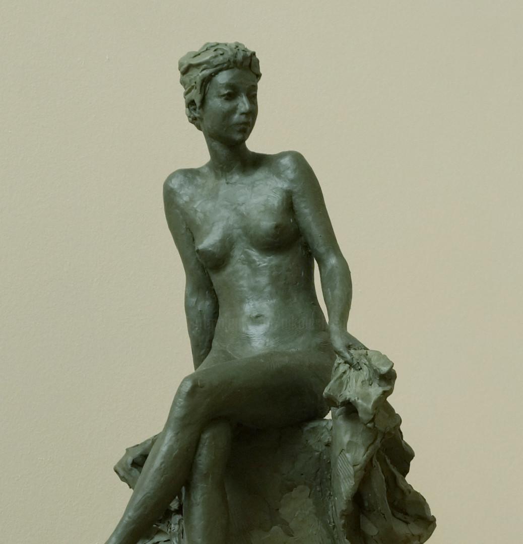 Николай Шаталов - Sitting nude, Etude.
