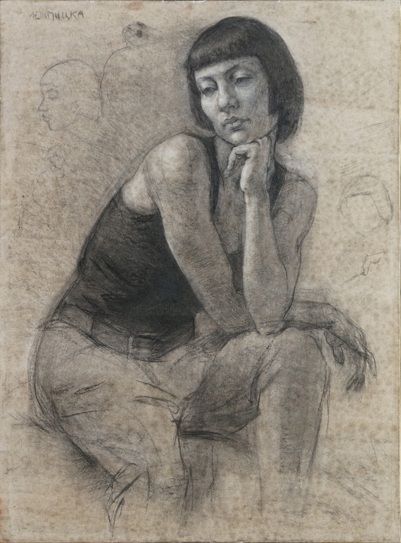 Николай Шаталов - Portrait with hands.