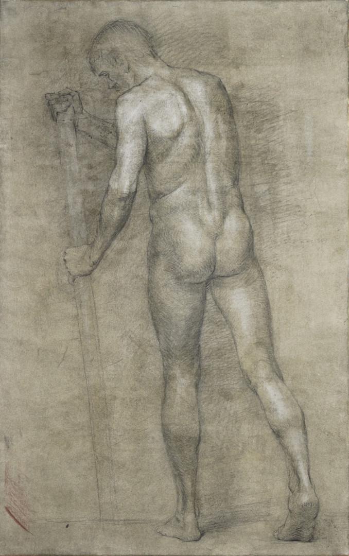 Николай Шаталов - Male nude. Study drawing