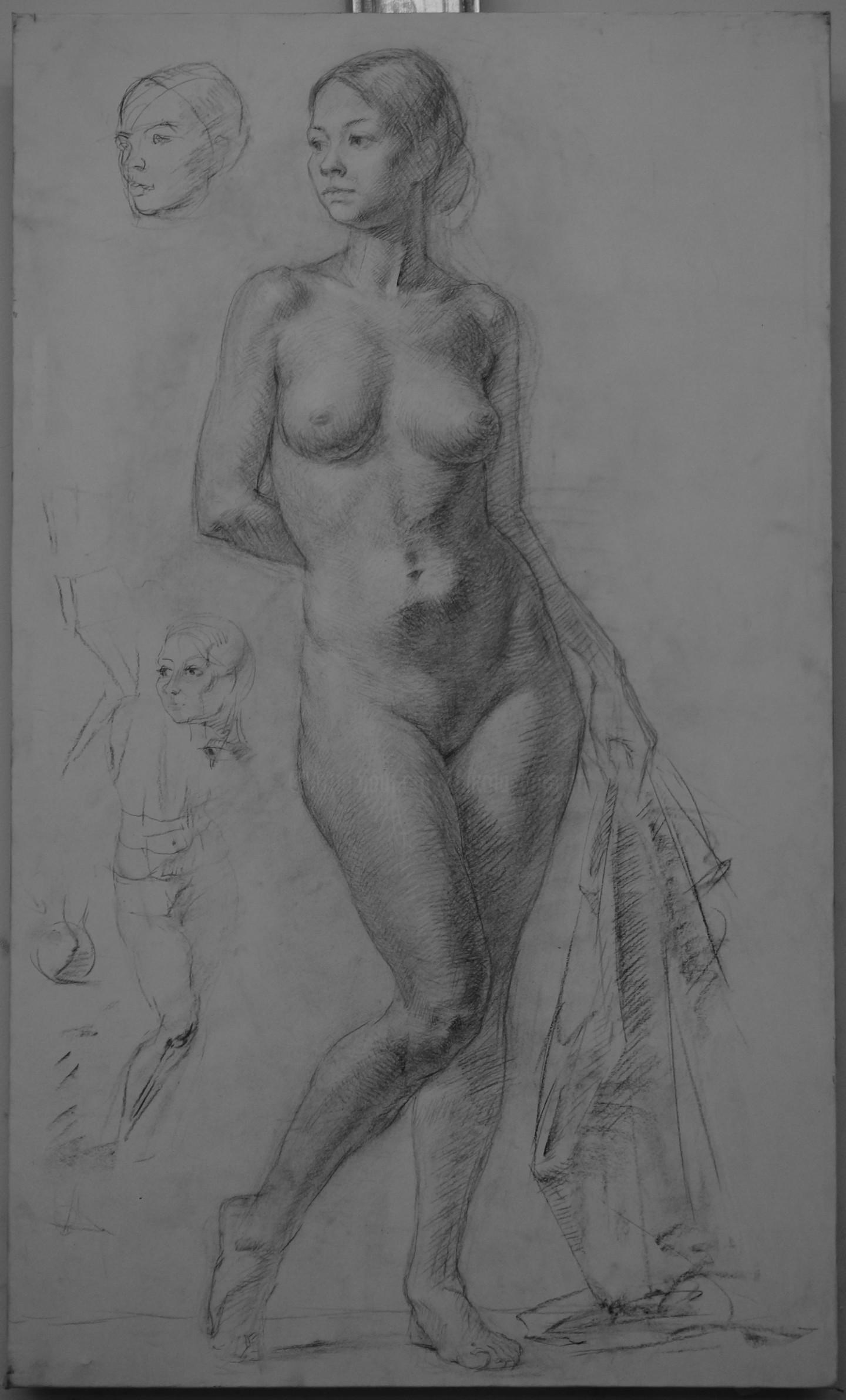 Николай Шаталов - Standing female nude