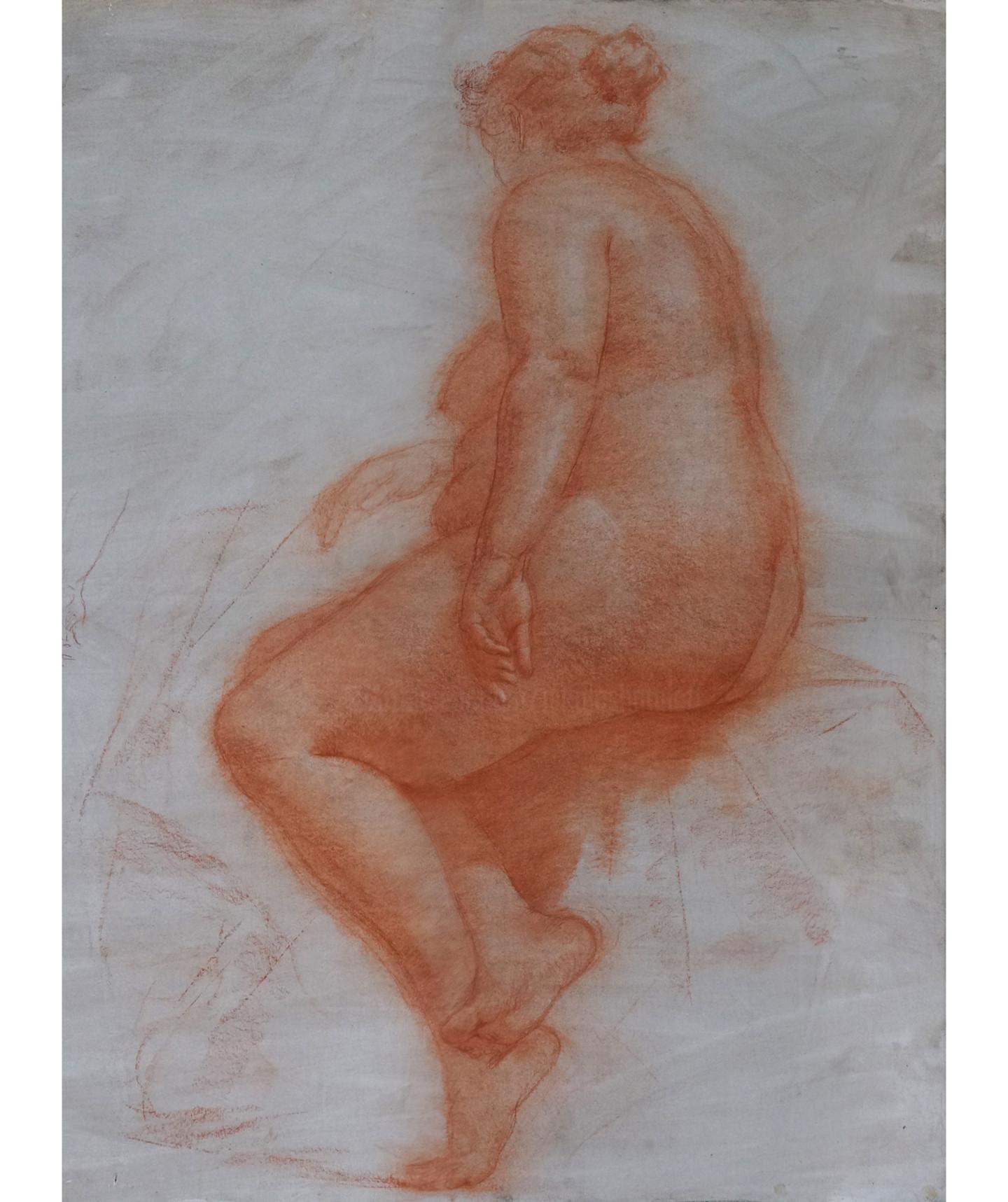 Николай Шаталов - Sitting female nude