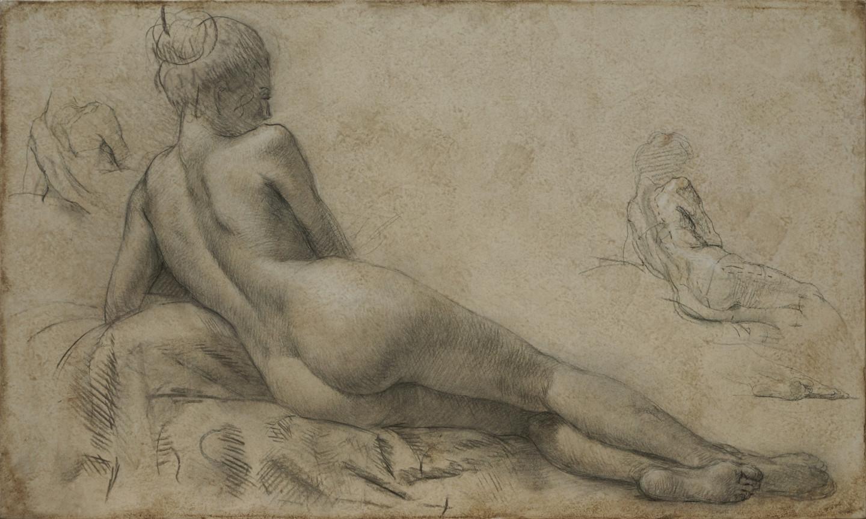 Николай Шаталов - Laying female nude