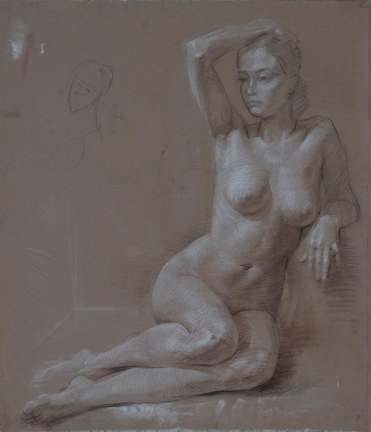 Николай Шаталов - Sitting nude