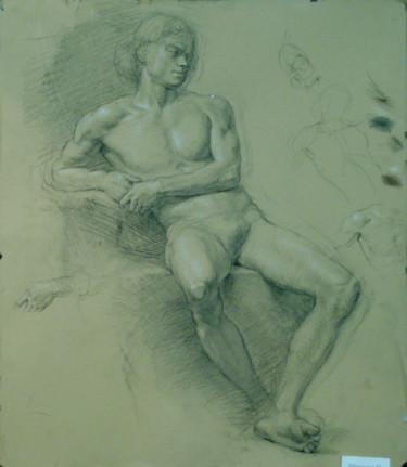 Sitting male nude