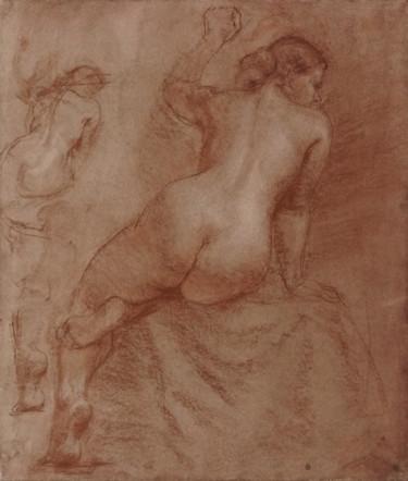 Sitting female nude.