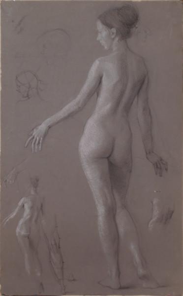Female nude.